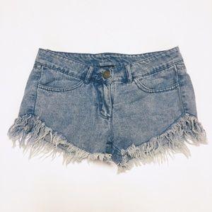 Very J Cutoff Denim Shorts